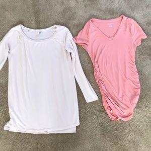 Bundle of Pink Maternity Shirts 👚
